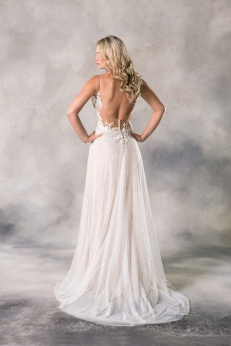 Back of Alyssa Wedding Dress from the Anna Georgina Casablanca 2019 Bridal Collection