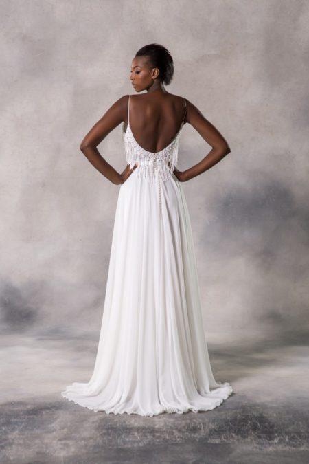 Back of Amelia Wedding Dress from the Anna Georgina Casablanca 2019 Bridal Collection