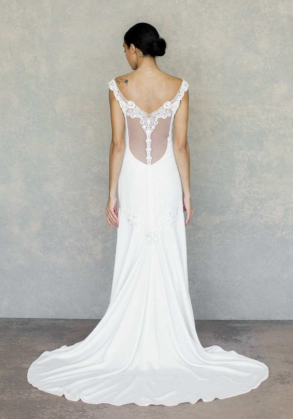 Back of Angel Wedding Dress from the Claire Pettibone The White Album Spring 2019 Bridal Collection