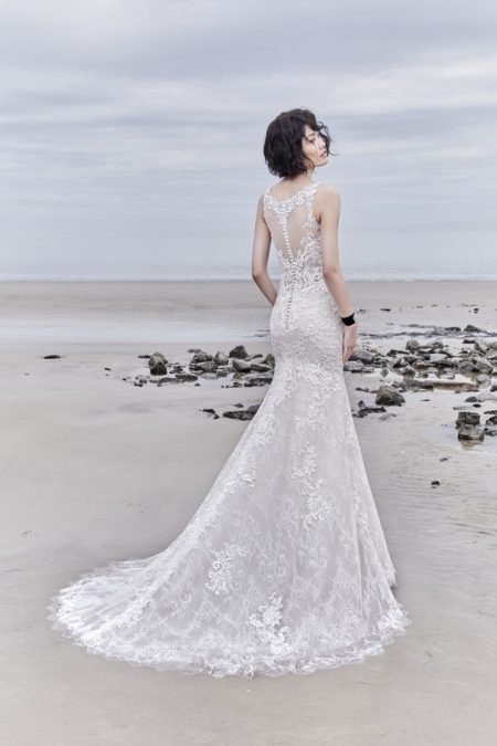 Back of Avonte Wedding Dress from the Sottero and Midgley Ariya Fall 2018 Bridal Collection