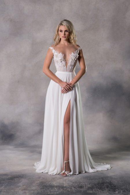 Bailey Top with Annocha Skirt from the Anna Georgina Casablanca 2019 Bridal Collection