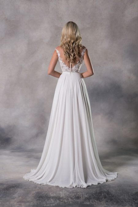 Back of Bailey Top with Annocha Skirt from the Anna Georgina Casablanca 2019 Bridal Collection