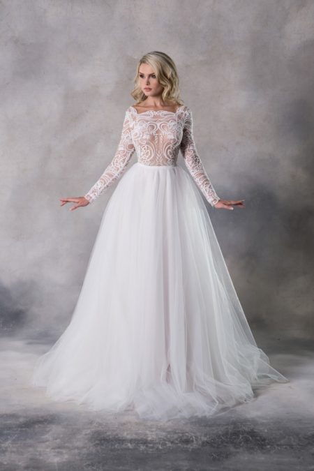 Bella Top with Emma Skirt from the Anna Georgina Casablanca 2019 Bridal Collection