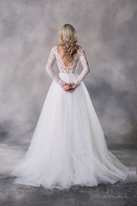Back of Bella Top with Emma Skirt from the Anna Georgina Casablanca 2019 Bridal Collection