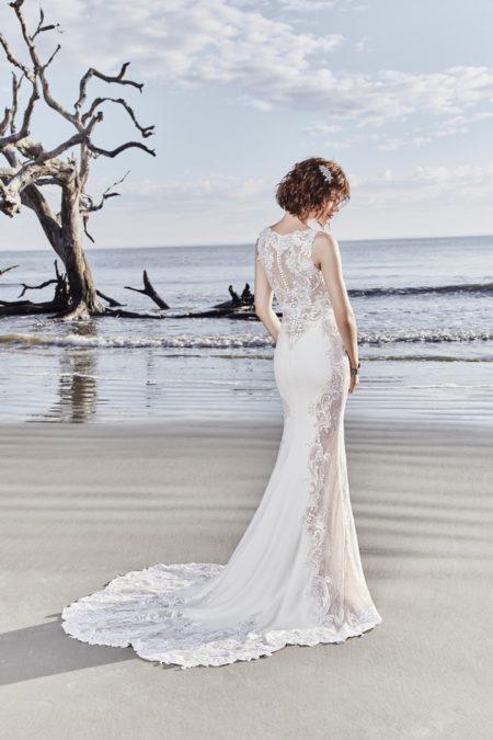 Back of Bradford Rose Wedding Dress from the Sottero and Midgley Ariya Fall 2018 Bridal Collection