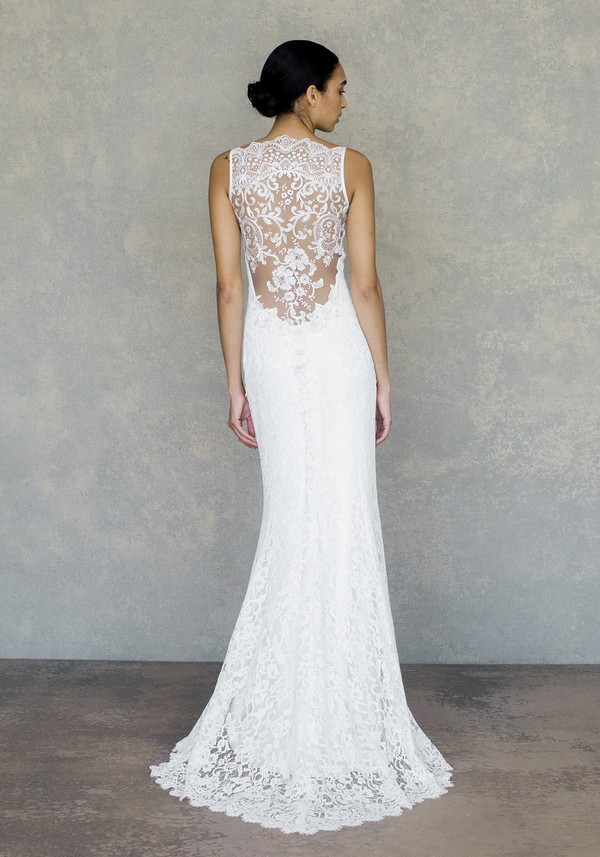 Back of Caravan Wedding Dress in Ivory from the Claire Pettibone The White Album Spring 2019 Bridal Collection