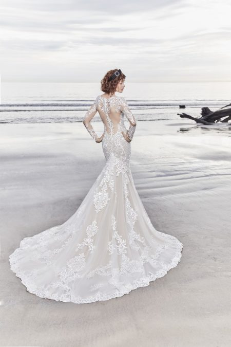 Back of Dakota Wedding Dress from the Sottero and Midgley Ariya Fall 2018 Bridal Collection