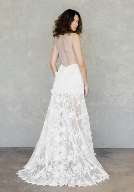 Back of Dove Wedding Dress from the Claire Pettibone The White Album Spring 2019 Bridal Collection