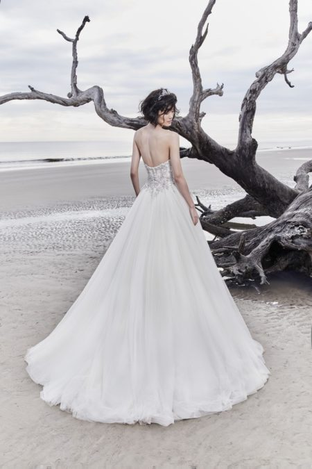 Back of Dusty Wedding Dress from the Sottero and Midgley Ariya Fall 2018 Bridal Collection