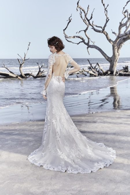 Back of Ekaterina Wedding Dress from the Sottero and Midgley Ariya Fall 2018 Bridal Collection