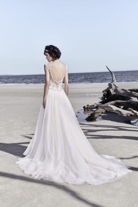 Back of Ezra Wedding Dress from the Sottero and Midgley Ariya Fall 2018 Bridal Collection