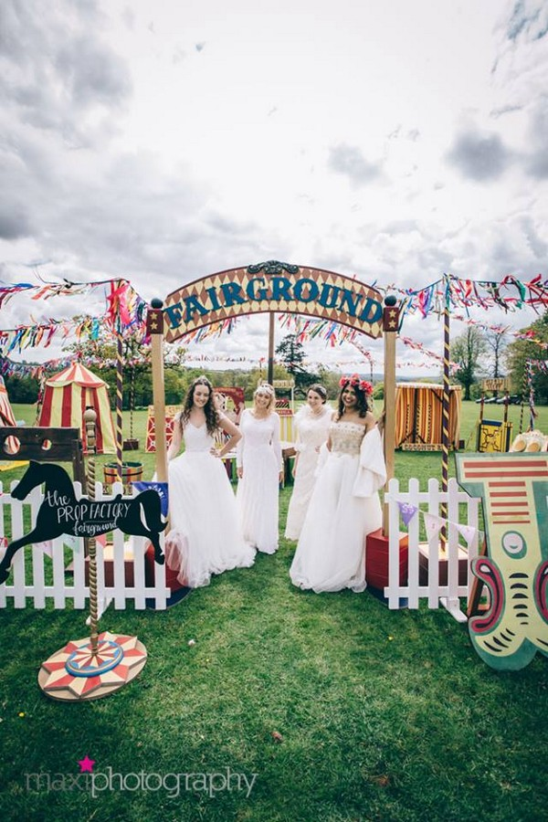 Wedding funfair made from items hired from The Prop factory