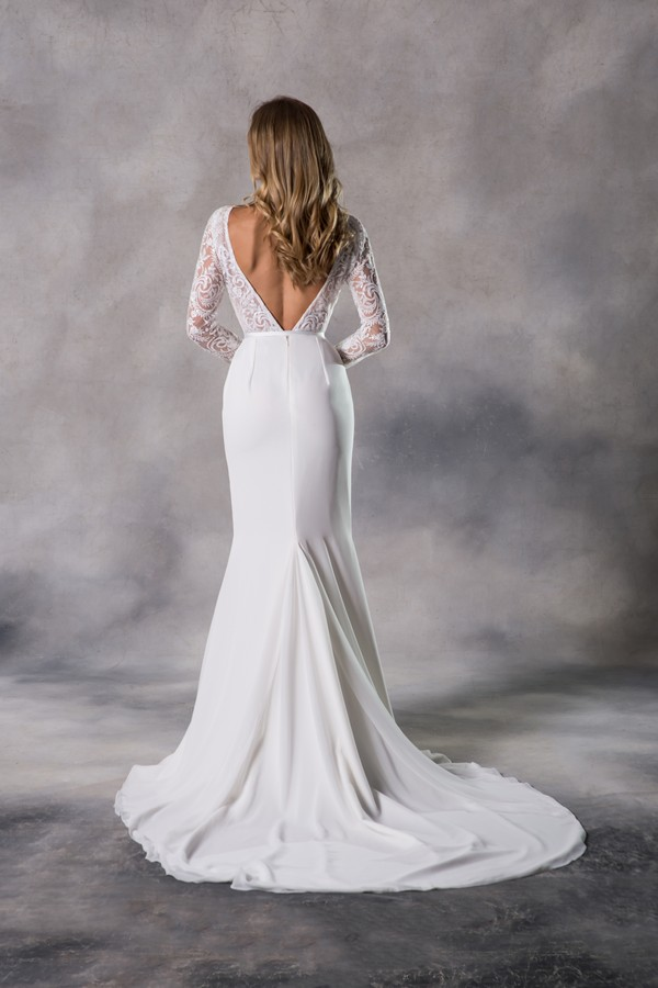 Back of Georgia Wedding Dress from the Anna Georgina Casablanca 2019 Bridal Collection