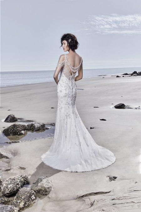 Back of Georgina Wedding Dress from the Sottero and Midgley Ariya Fall 2018 Bridal Collection