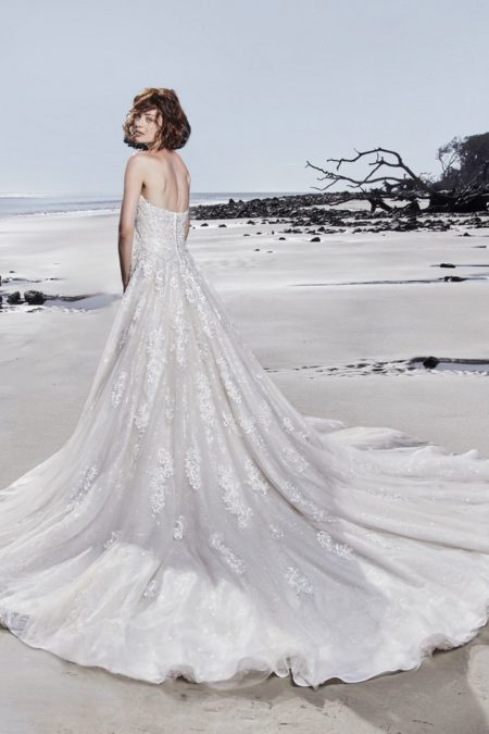Back of Glenn Wedding Dress from the Sottero and Midgley Ariya Fall 2018 Bridal Collection