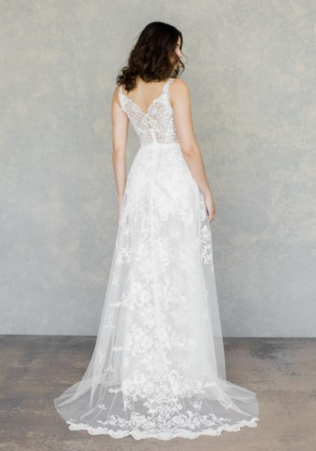 Back of Gypsy Moon Wedding Dress from the Claire Pettibone The White Album Spring 2019 Bridal Collection