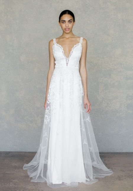 Gypsy Rose Wedding Dress in Ivory from the Claire Pettibone The White Album Spring 2019 Bridal Collection