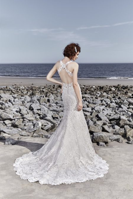 Back of Holden Wedding Dress from the Sottero and Midgley Ariya Fall 2018 Bridal Collection