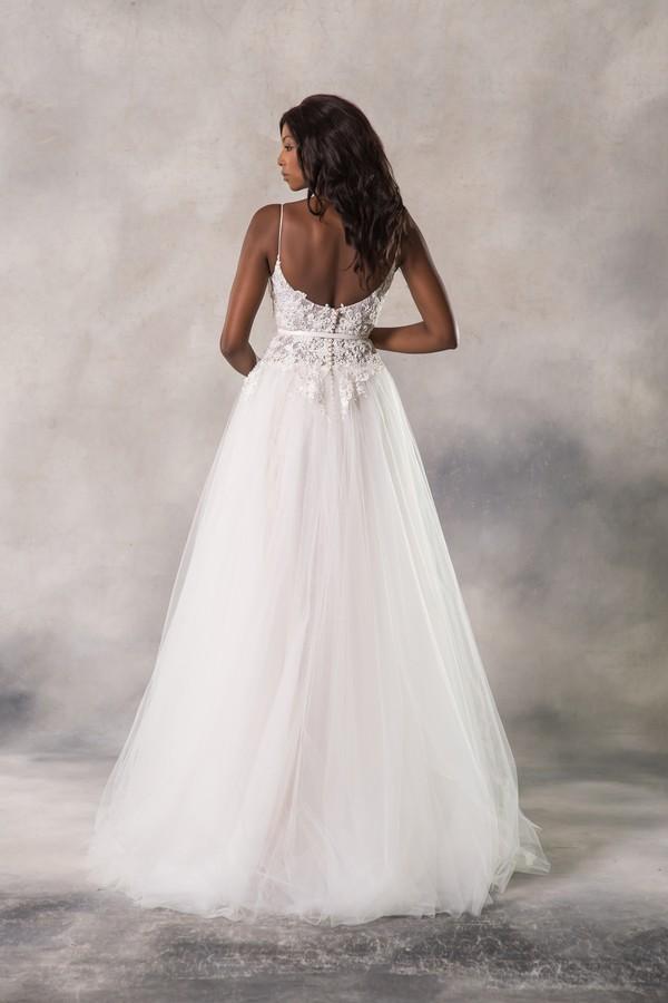 Back of Holly Wedding Dress from the Anna Georgina Casablanca 2019 Bridal Collection