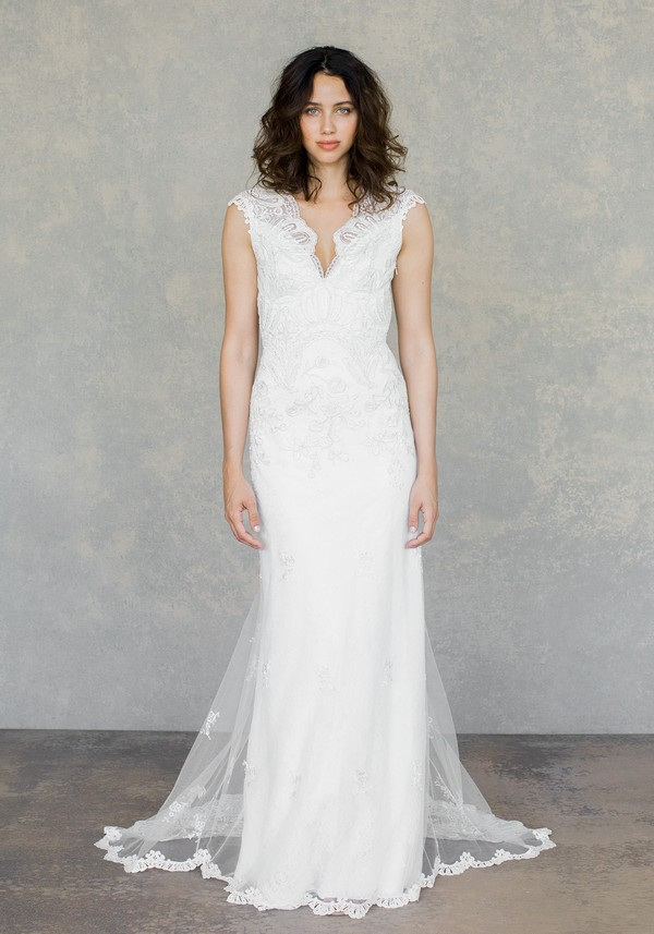 Horizon Wedding Dress in Ivory from the Claire Pettibone The White Album Spring 2019 Bridal Collection