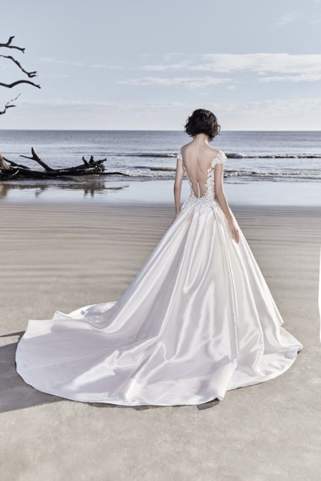 Back of Huntington Wedding Dress from the Sottero and Midgley Ariya Fall 2018 Bridal Collection