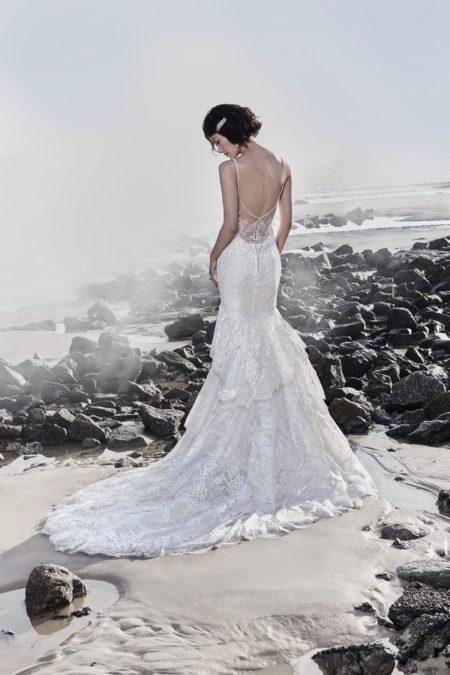 Back of Jackson Wedding Dress from the Sottero and Midgley Ariya Fall 2018 Bridal Collection