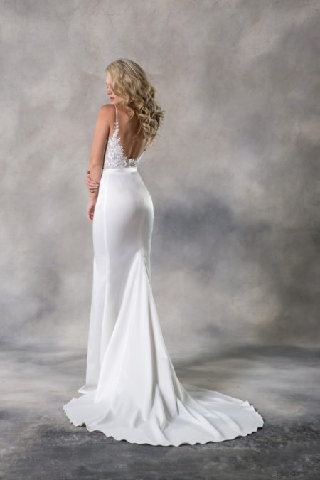 Back of Judith Wedding Dress from the Anna Georgina Casablanca 2019 Bridal Collection