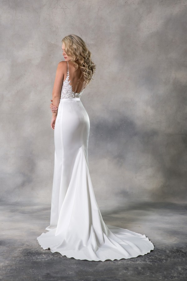 Back of Judith Wedding Dress from the Anna Georgina Casablanca 2019 Bridal Collection