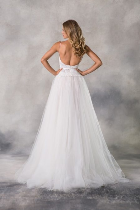Back of Kaylen Wedding Dress from the Anna Georgina Casablanca 2019 Bridal Collection