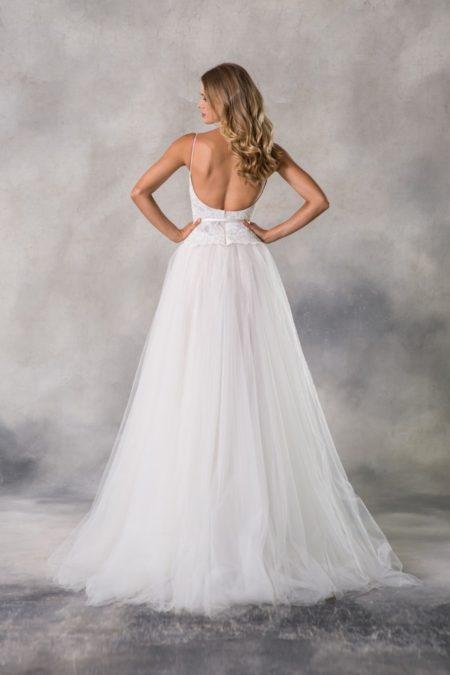 Back of Kaylen Wedding Dress from the Anna Georgina Casablanca 2019 Bridal Collection