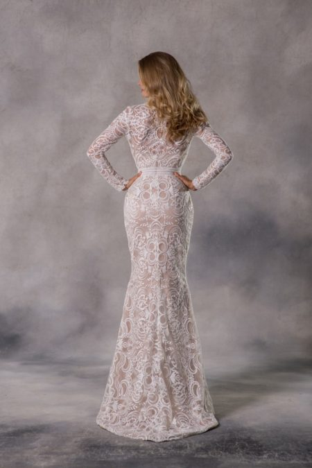 Back of Kennedy Wedding Dress from the Anna Georgina Casablanca 2019 Bridal Collection