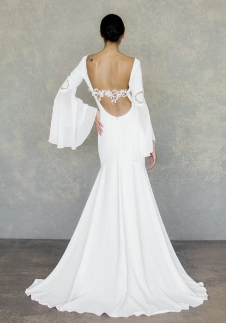 Back of Lily Wedding Dress from the Claire Pettibone The White Album Spring 2019 Bridal Collection