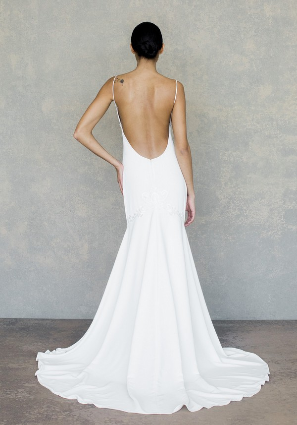 Back of Lotus Wedding Dress from the Claire Pettibone The White Album Spring 2019 Bridal Collection