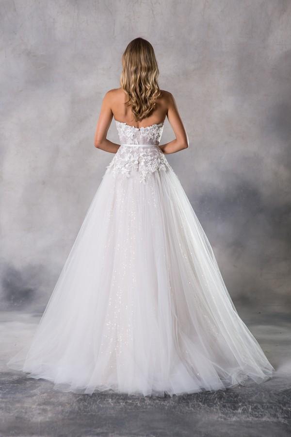 Back of Mai Wedding Dress from the Anna Georgina Casablanca 2019 Bridal Collection