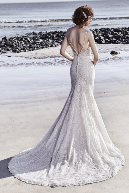 Back of Marcelle Wedding Dress from the Sottero and Midgley Ariya Fall 2018 Bridal Collection