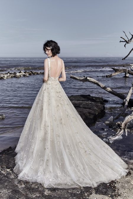 Back of Maven Wedding Dress from the Sottero and Midgley Ariya Fall 2018 Bridal Collection
