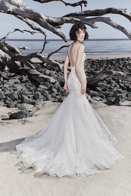 Back of Nouvelle Wedding Dress from the Sottero and Midgley Ariya Fall 2018 Bridal Collection