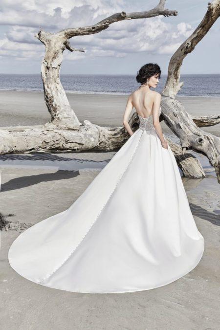 Back of Phoenix Wedding Dress from the Sottero and Midgley Ariya Fall 2018 Bridal Collection