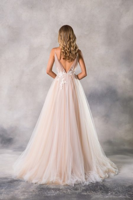 Back of Roxy Wedding Dress from the Anna Georgina Casablanca 2019 Bridal Collection