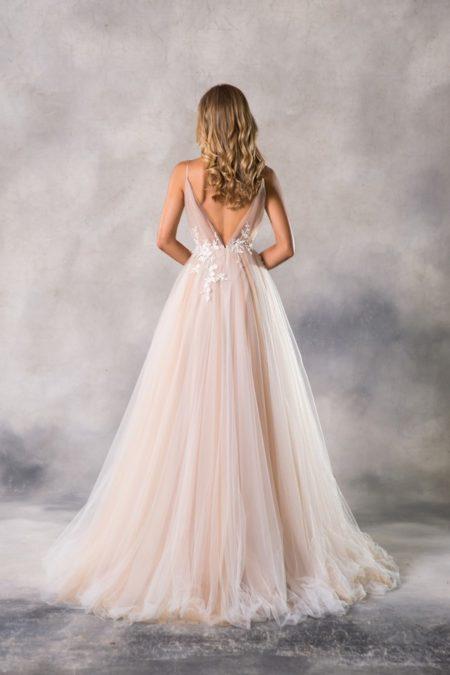 Back of Roxy Wedding Dress from the Anna Georgina Casablanca 2019 Bridal Collection