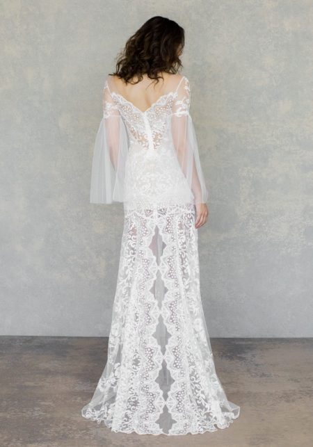 Back of Sahara Wedding Dress in Ivory from the Claire Pettibone The White Album Spring 2019 Bridal Collection