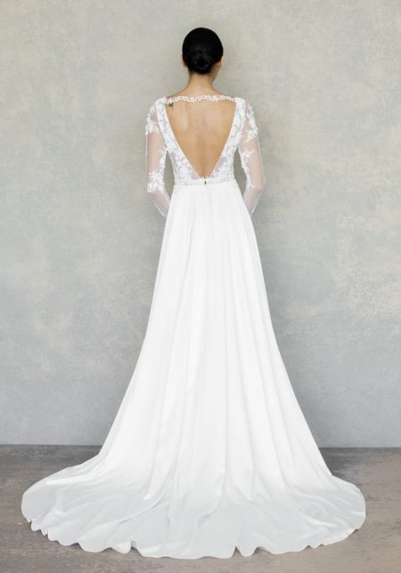Back of Santorini Wedding Dress in Ivory from the Claire Pettibone The White Album Spring 2019 Bridal Collection