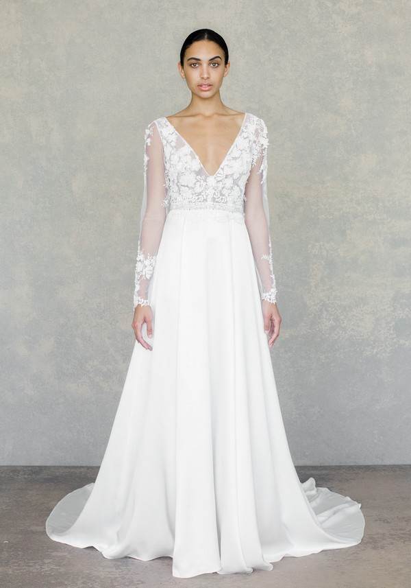 Santorini Wedding Dress in Ivory from the Claire Pettibone The White Album Spring 2019 Bridal Collection