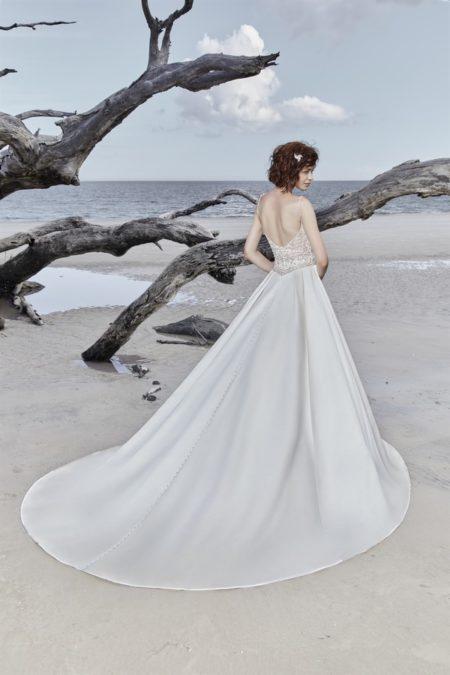 Back of Saylor Wedding Dress from the Sottero and Midgley Ariya Fall 2018 Bridal Collection