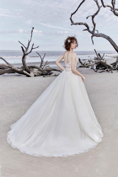 Back of Saylor Rose Wedding Dress from the Sottero and Midgley Ariya Fall 2018 Bridal Collection