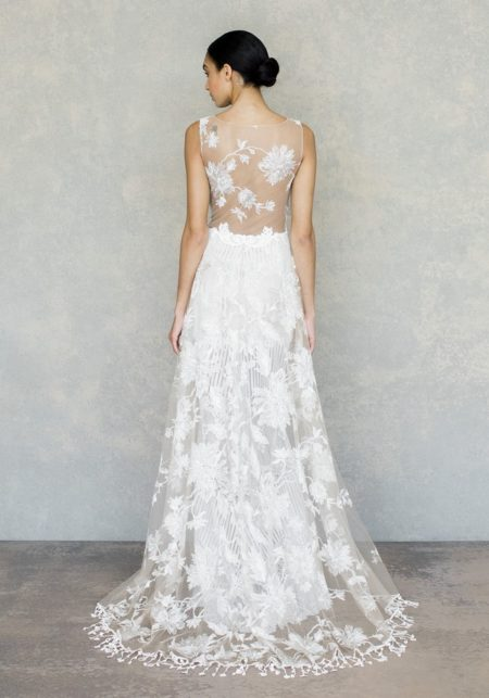 Back of Shangri-La Wedding Dress in Ivory from the Claire Pettibone The White Album Spring 2019 Bridal Collection