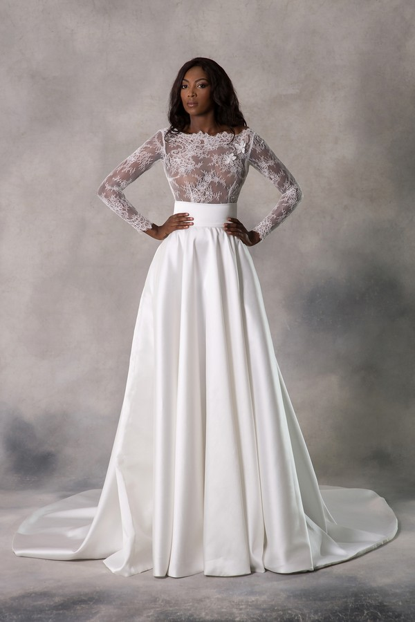 Siobhan Top with Millicent Skirt from the Anna Georgina Casablanca 2019 Bridal Collection