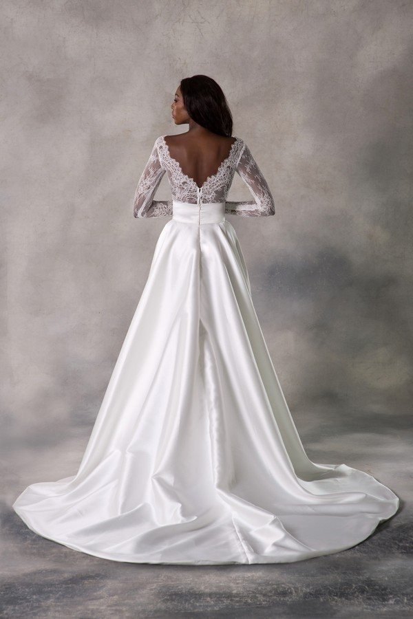 Back of Siobhan Top with Millicent Skirt from the Anna Georgina Casablanca 2019 Bridal Collection