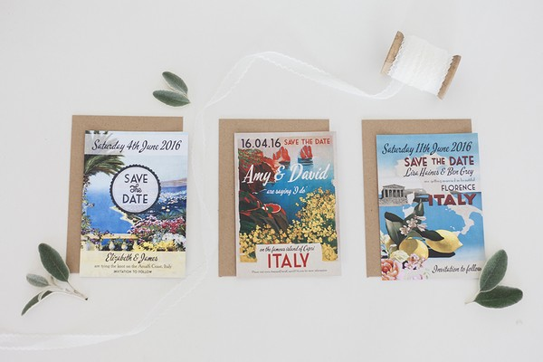 Stationery for a Wedding in Italy