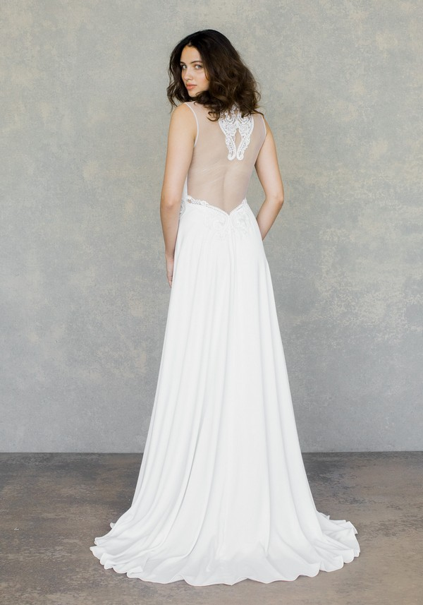 Back of Swan Wedding Dress from the Claire Pettibone The White Album Spring 2019 Bridal Collection